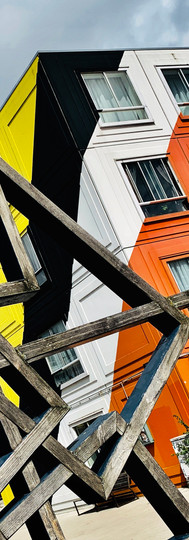 colorful heesterveld community building at amsterdam zuidoost ionamsterdam
