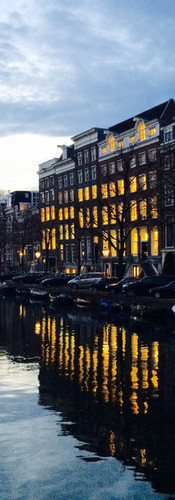 canal amsterdam lights reflection keizersgracht autumn iphoneonly