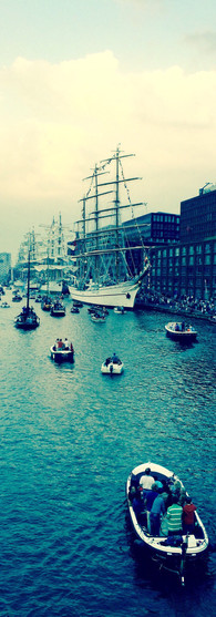 SAIL amsterdam 2015 all boats in one direction ijhaven blue and green color iphoneonly