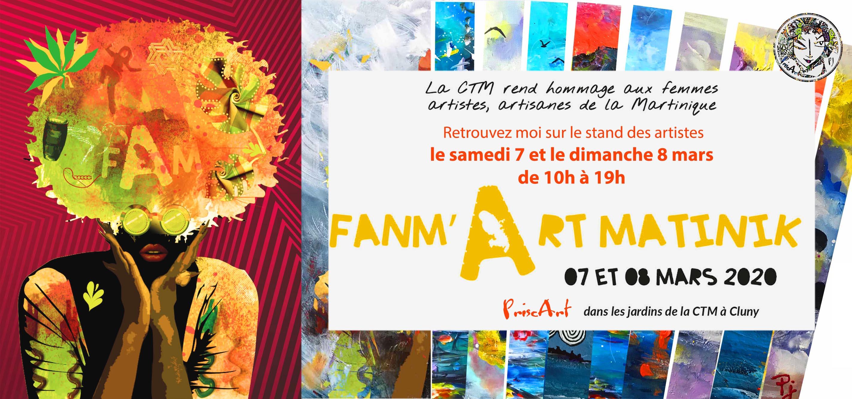 FANM'ART MATINIK 2020 CTM 7 ET 8 MARS