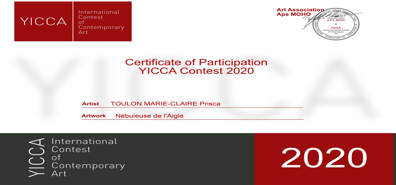CERTIFICAT DE PARTICIPATION YICCA 2020
