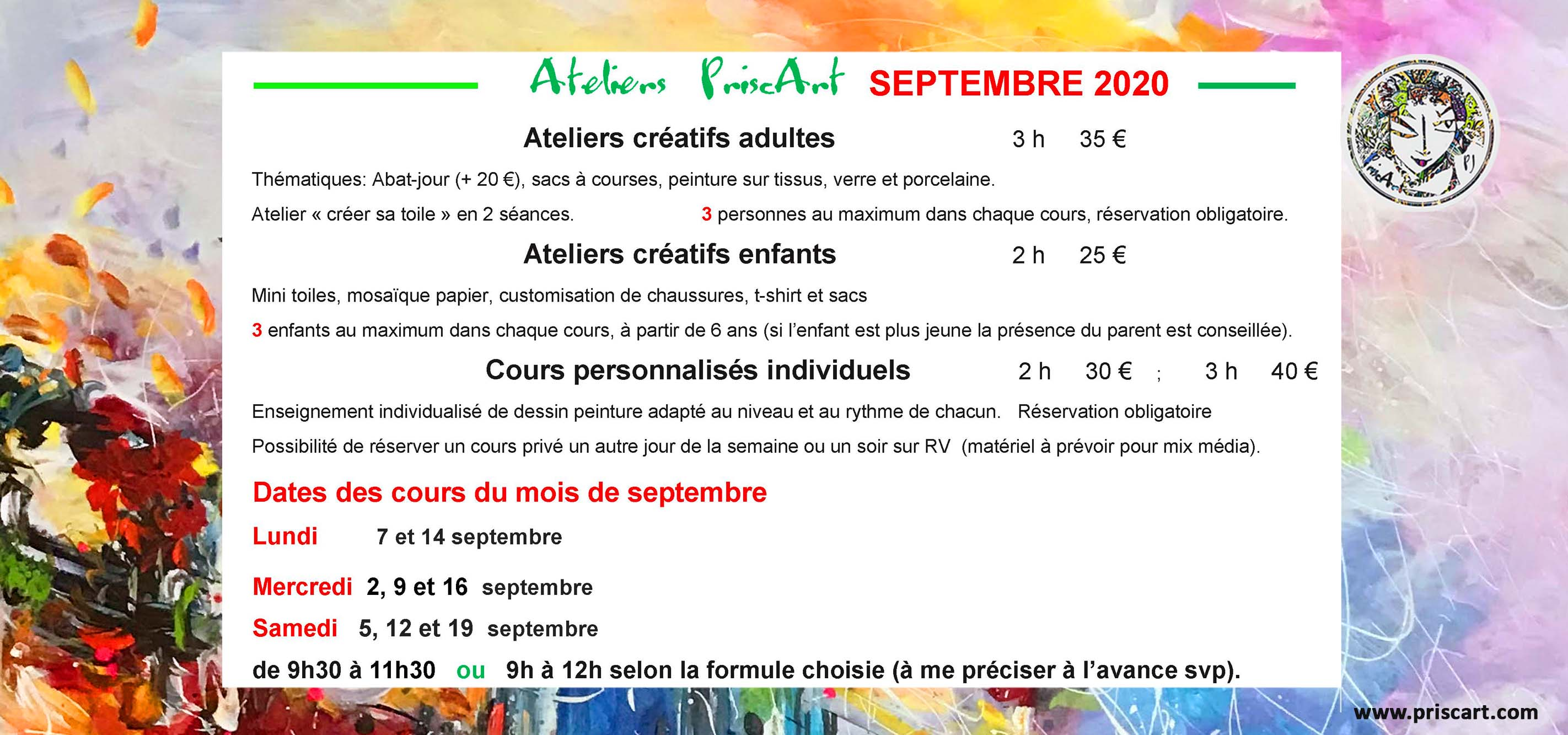 BANNIERE ATELIERS NEW septembre  2020