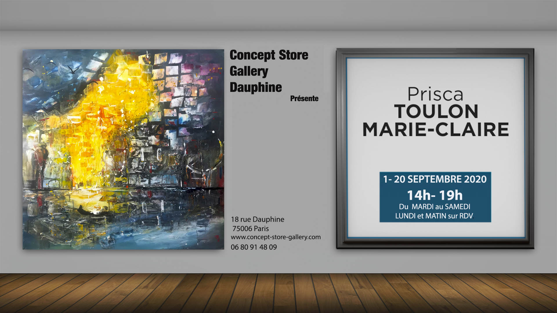 EXPO CONCEPT STORE PARIS 1 AU 20 SEPTEMB