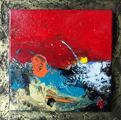 fluide océan vague rouge