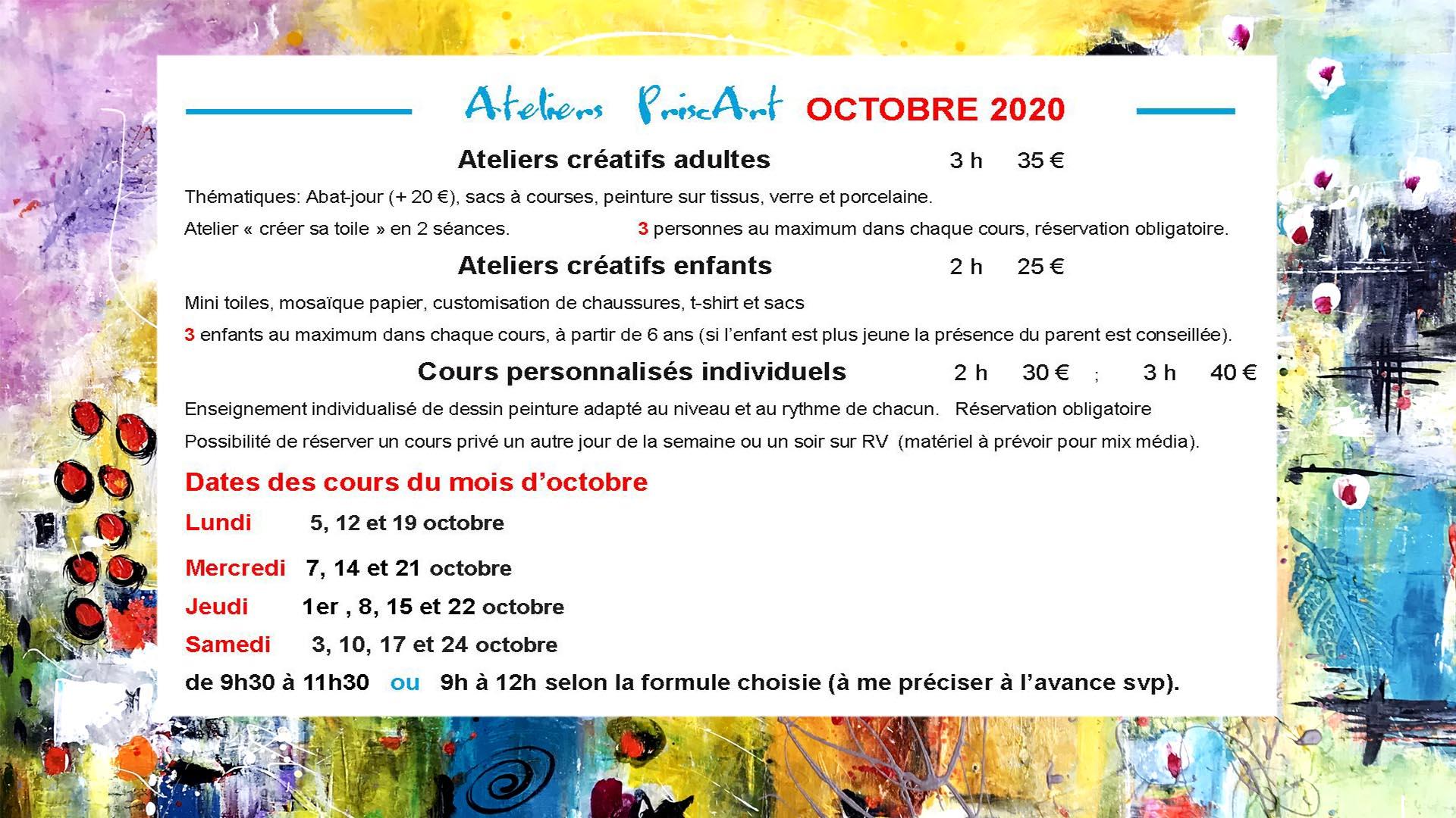 BANNIERE ATELIERS OCTOBRE  2020