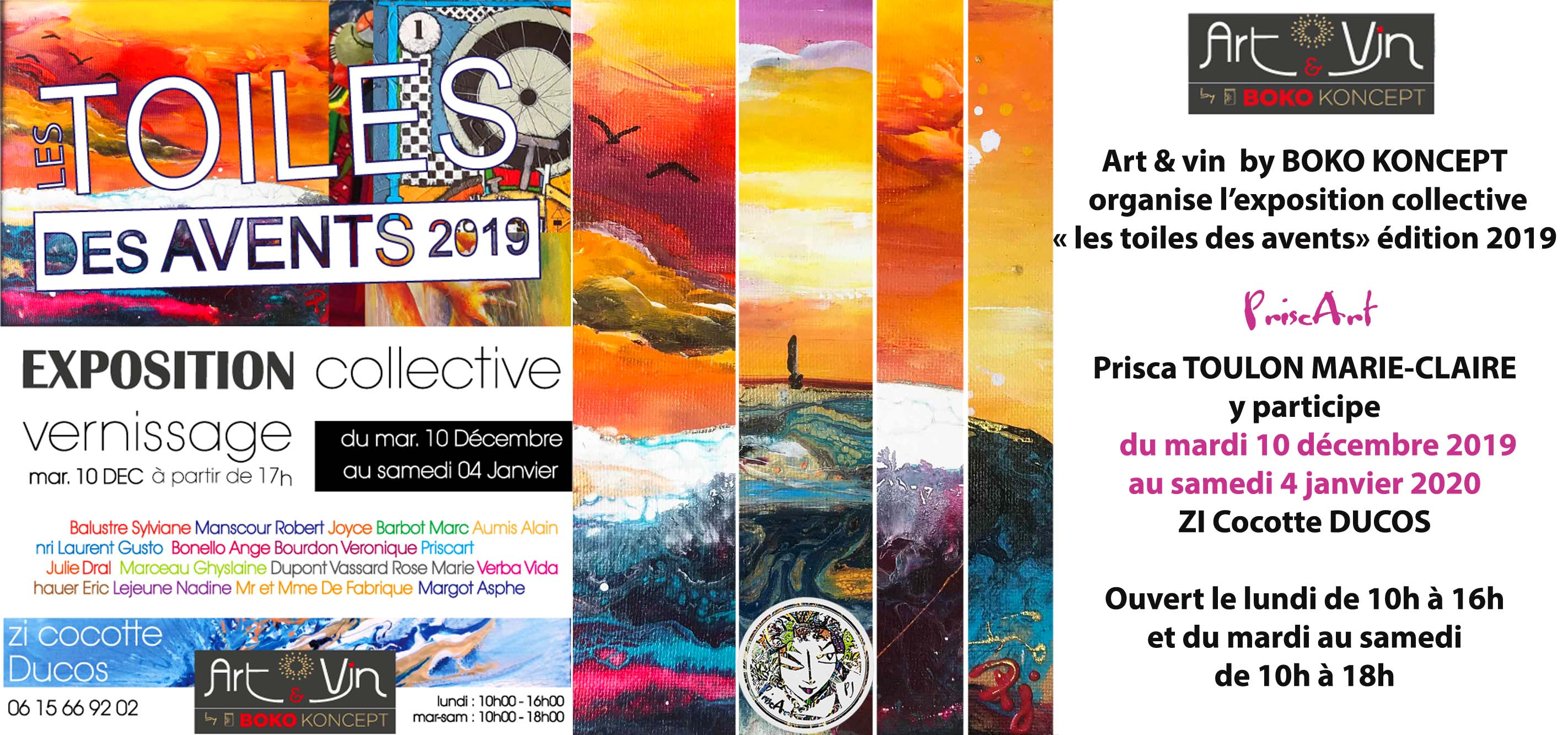 Expo vin art Boko  toile des avents