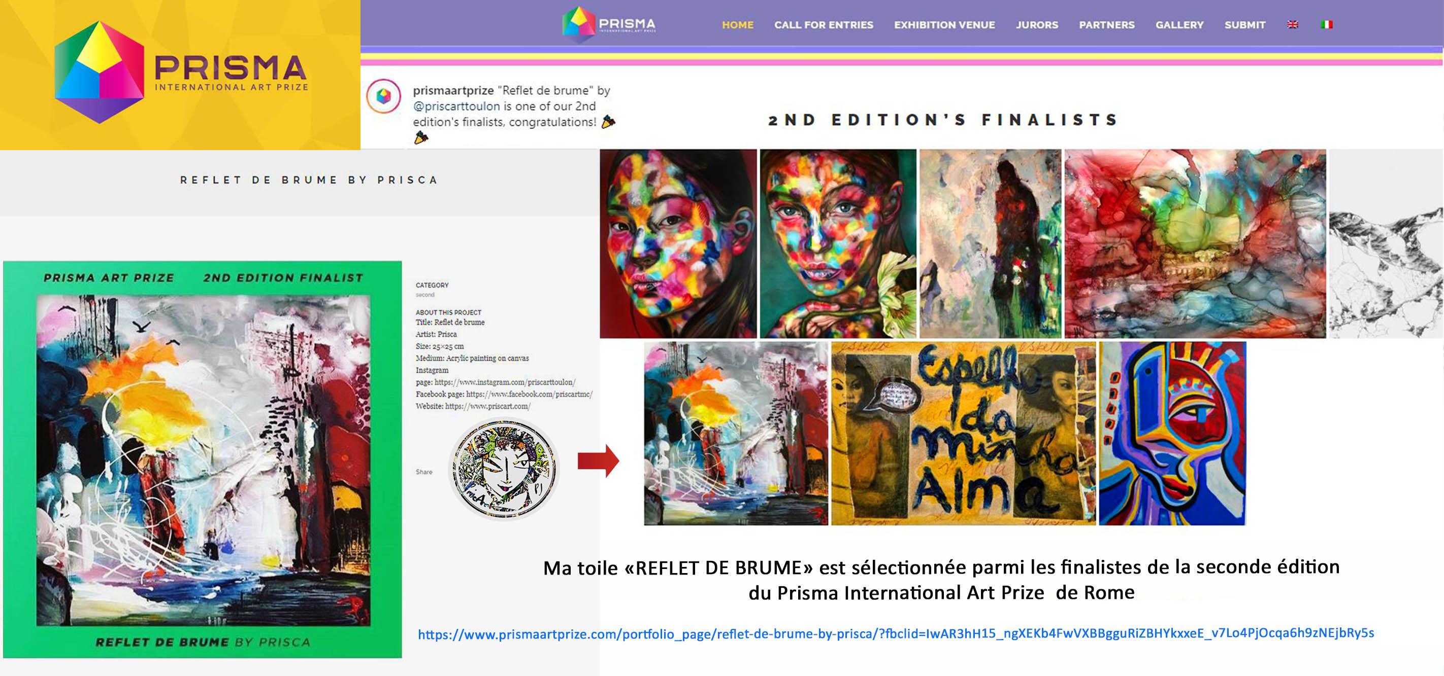 banniere PRISMA ART PRIZE ROME V2