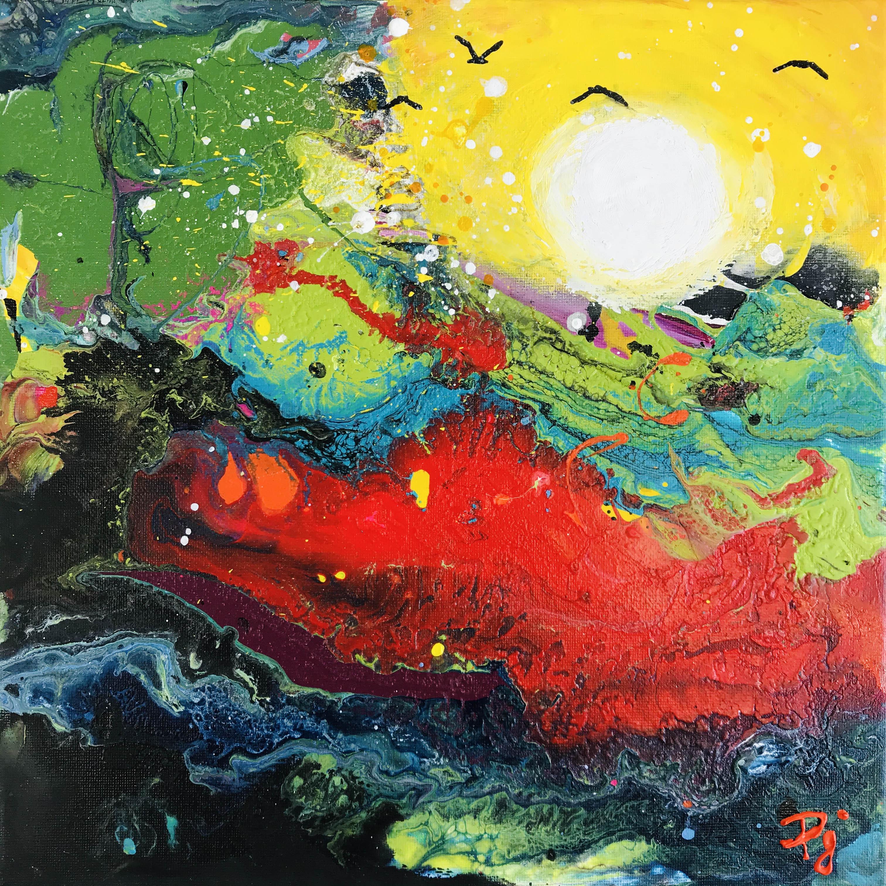 Fluide océan éclat de soleil