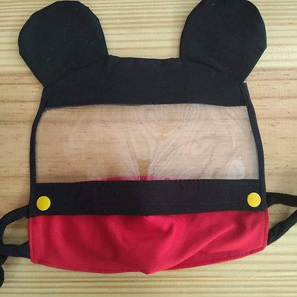 Máscara de tecido com Viseira - Mickey