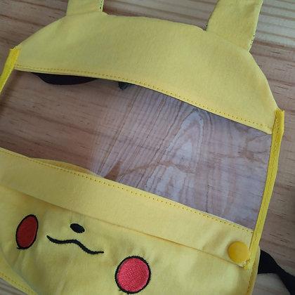Máscara de tecido com Viseira - Pikachu