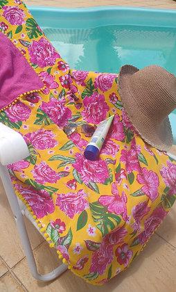 Canga atoalhada, sacola de praia e saco para roupa molhada