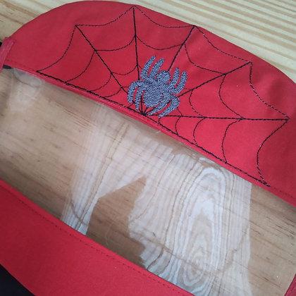 Máscara de tecido com Viseira - Homem Aranha