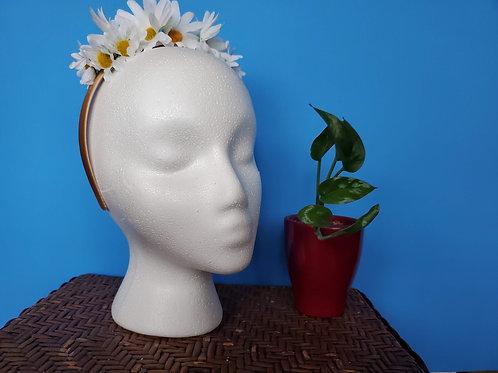 White Daisy Headband