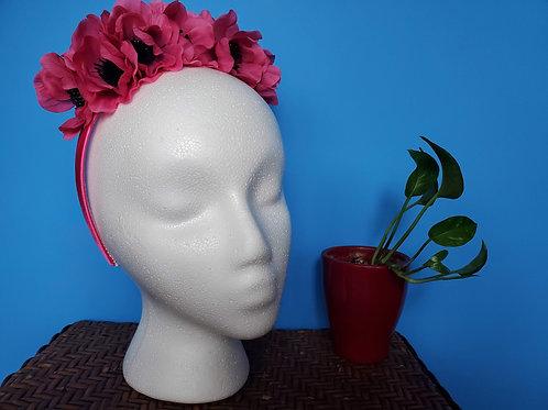 Pink Poppy Headband