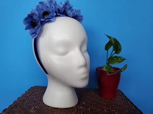 Blue Poppy Headband