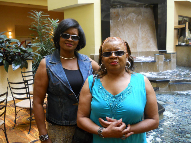 My mama and my crazy auntie. My two greatest social influences. One loves Jesus Christ. The other loves Johnnie Taylor (and Johnnie Walker Red).