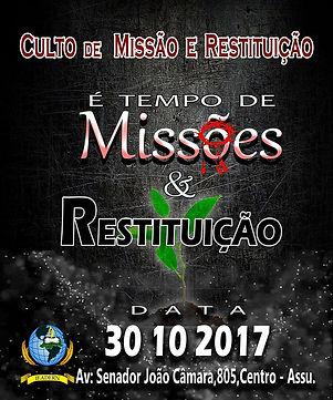 Restituição e Missão Out17