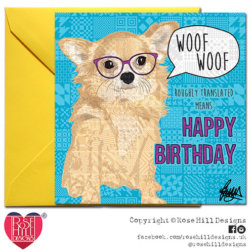 Gucci Chihuahua Birthday Card
