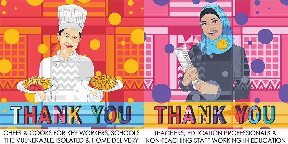 Thank you key workers teacher & chef new