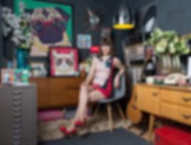 Rose Hill Designs in her studio London Islington Make your Pet Famous Pop Art Artworks