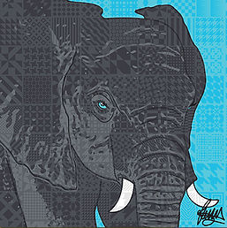 Rose Hill Designs for Portrait Elephant