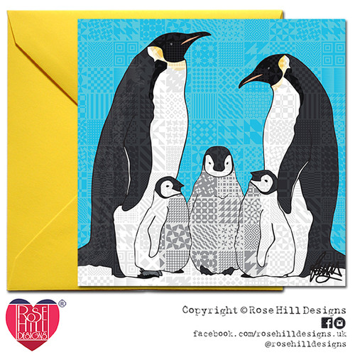 buy popular acc64 ee7ab Papa, Pip, Petit Pois Penguin Family Card