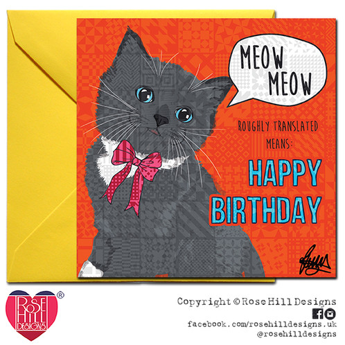 Ragdoll Cat Birthday Card