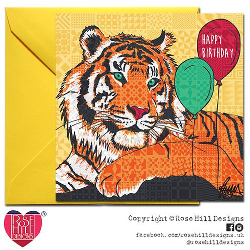 Zsl London Zoo Tiger Birthday Card