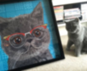Make Your Pet Famous Artworks Extoic Shorthair grey cat