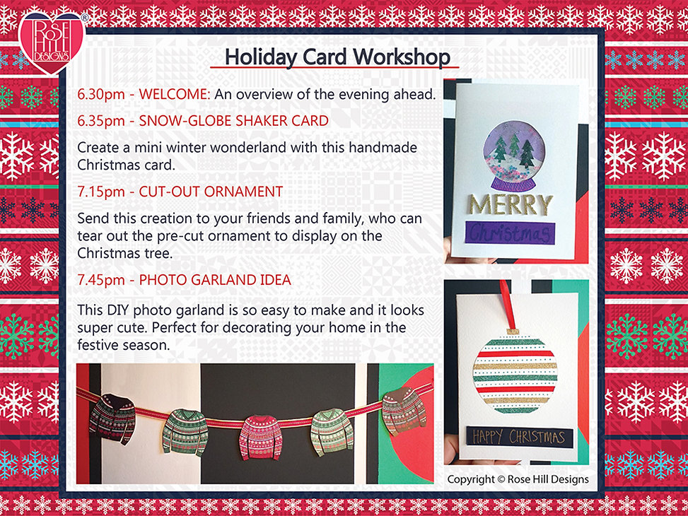 Holiday card Schedule at the Ministry FL