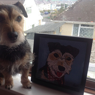 Rose Hill Designs Dog Rocky with Artwork
