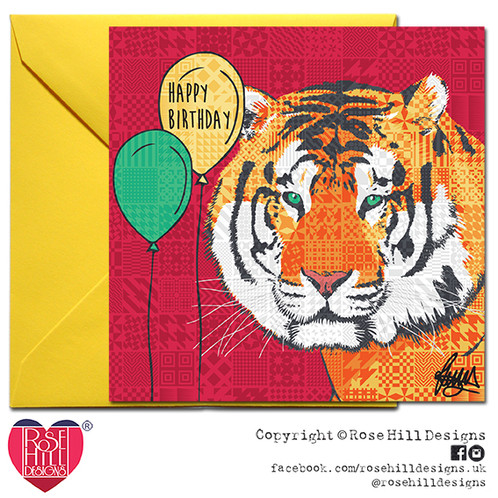 Ted The Tiger Birthday Card