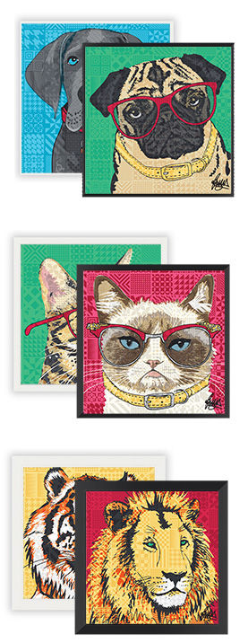 Make your pet famous frames and sizes pr