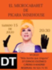 """""""EL MICROCABARET DE PICARA WINEHOUSE"""" EN DT ESPACIO ESCÉNICO"""