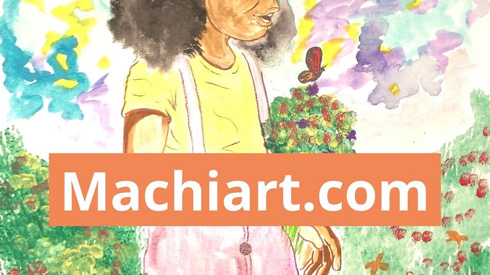 Little Black Girl Garden #24