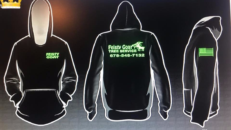 Feisty Goat Hoodie (pullover)