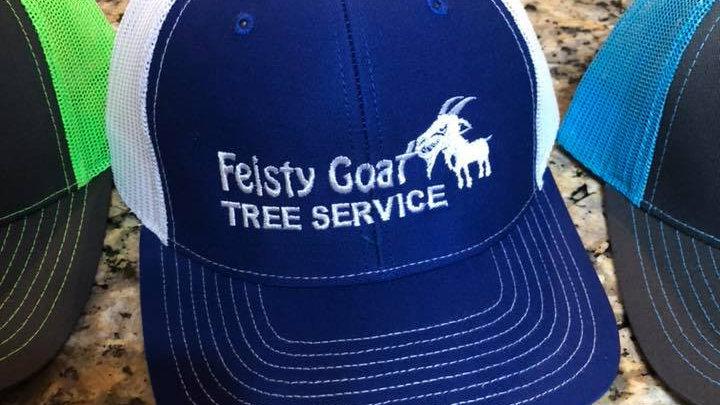 Feisty Hats - Blue / White
