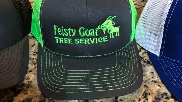 Feisty Hats - Neon Green / Grey