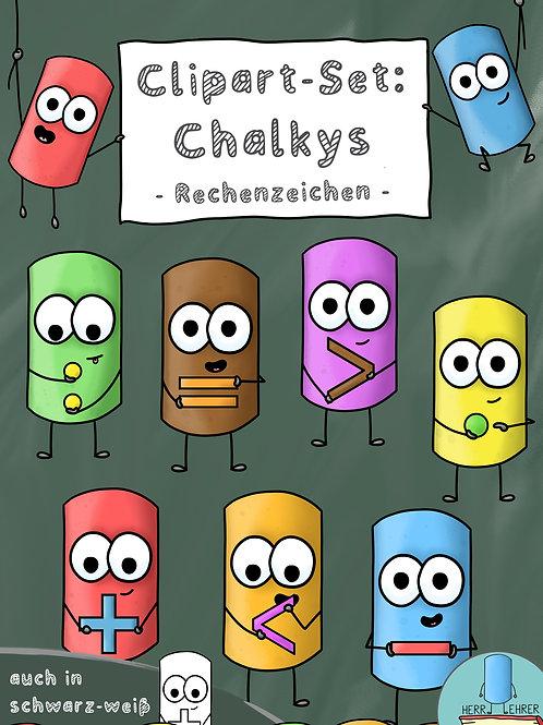 Clipart-Set: Die Chalkys (Rechenzeichen)