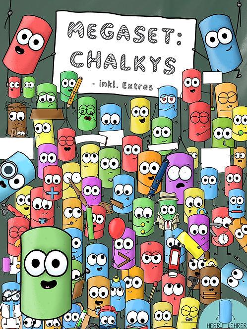 MEGA-Clipart-Set: Die Chalkys (mit vielen Extras)