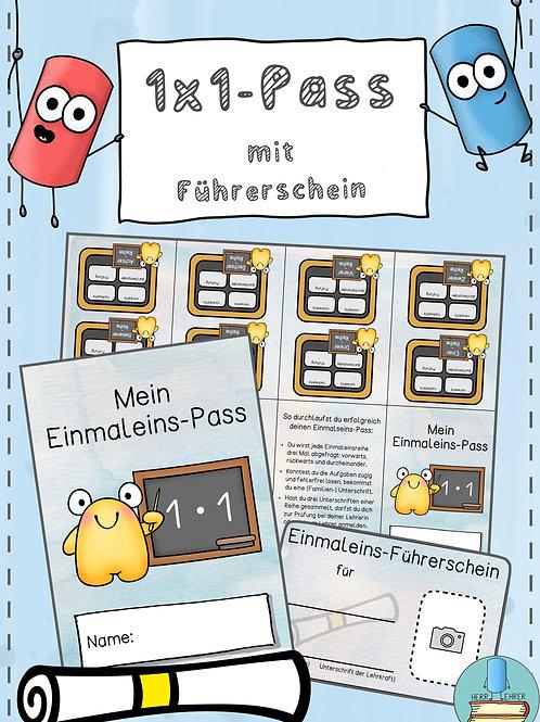 Einmaleins-Pass (mit Führerschein)