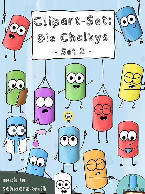 Clipart-Set: Die Chalkys (Set 2)