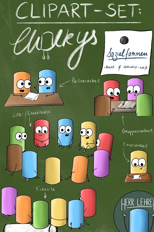 Clipart-Set: Die Chalkys (Sozialformen)