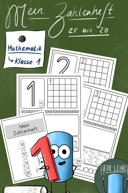 Mein Zahlenheft (Anfangsunterricht)