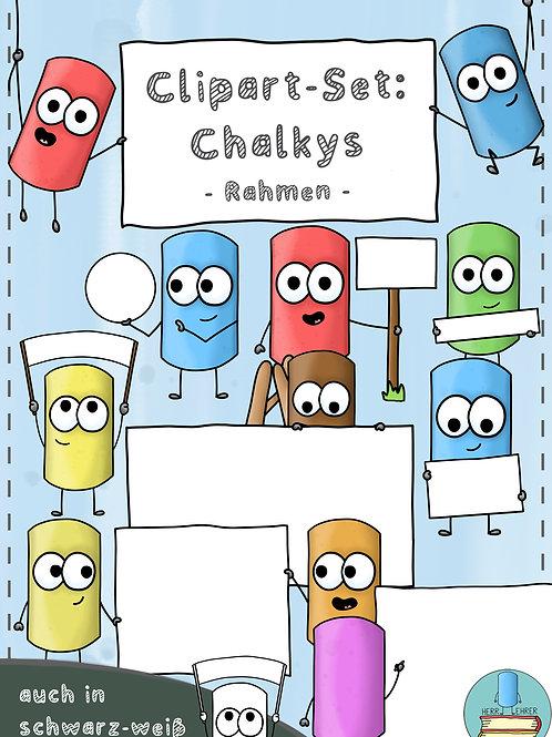 Clipart-Set: Die Chalkys (Rahmen)