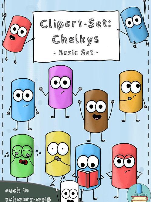 Clipart-Set: Die Chalkys (Basic Set 1)