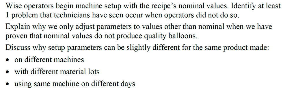 Learning Outcome - Starting Parameters.p
