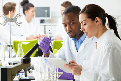 Lab workers discussion