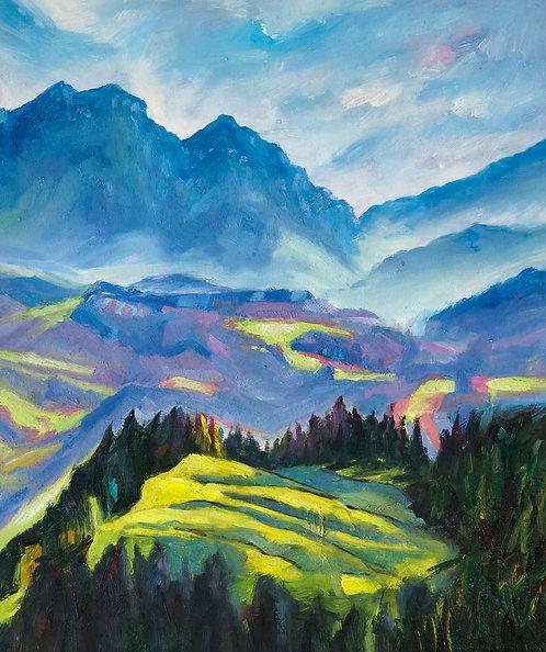 alpine mist painting
