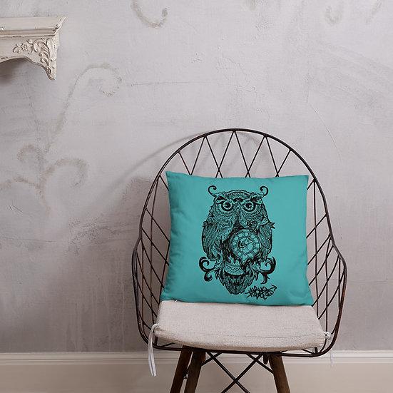Owl Clock Basic Pillow